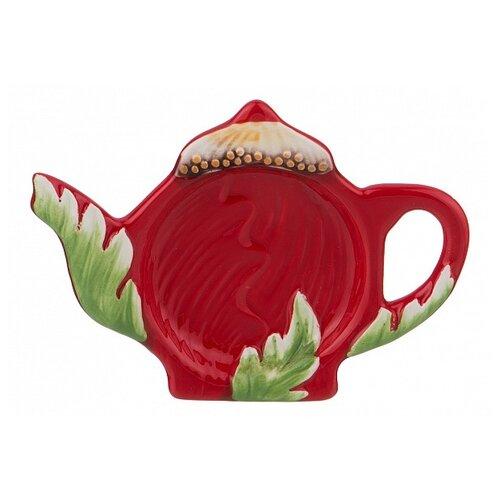 Фото - Подставка для чайных пакетиков Agness Маковый цвет 358-1378 красный/зеленый подставка для чайных пакетиков