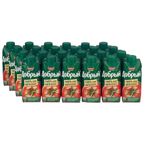 Сок Добрый Томат, с крышкой, без сахара, 0.33 л, 24 шт. сок swell томат без сахара 0 25 л 8 шт