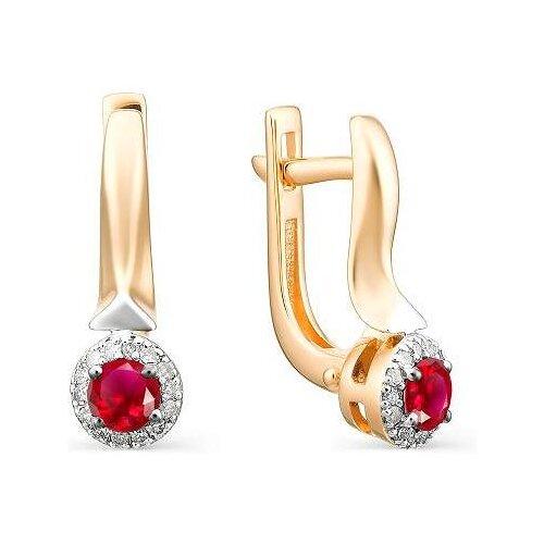 Фото - АЛЬКОР Серьги с рубинами и бриллиантами из красного золота 23084-103 алькор серьги с рубинами и бриллиантами из красного золота 23503 103