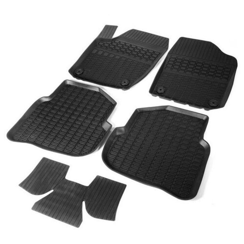 Комплект ковриков RIVAL 65804001 5 шт. черный