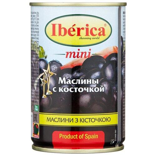Iberica Маслины мини с косточкой в рассоле, жестяная банка 300 г iberica маслины с косточкой в рассоле жестяная банка 360 г