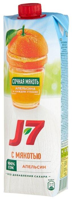 Сок J7 Апельсин, с крышкой, без сахара, 0.97 л