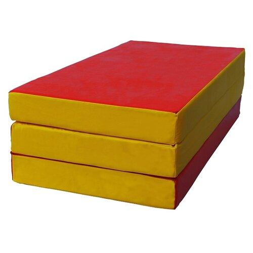 Спортивный мат 1500х1000х100 мм КМС № 4 красно/жёлтый