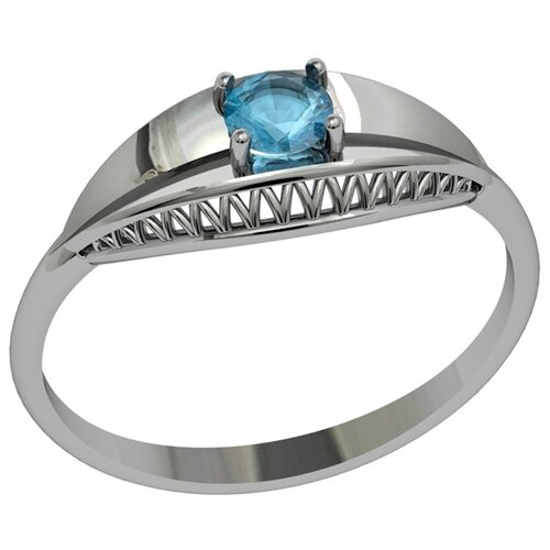 Фото - Приволжский Ювелир Кольцо с 1 алпанитом из серебра 281325-FA77, размер 18.5 приволжский ювелир кольцо с 1 алпанитом из серебра с позолотой 272158 fa77 размер 18