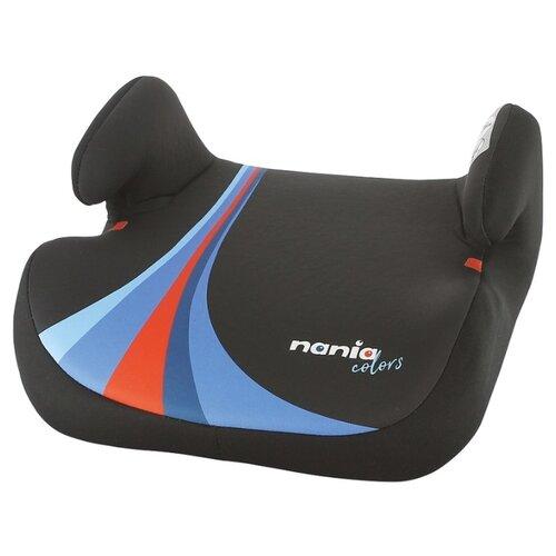 Бустер группа 2/3 (15-36 кг) Nania Topo Comfort Colors, blue автокресло группа 1 2 3 9 36 кг little car ally с перфорацией черный