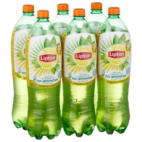"""Чай Lipton """"По-Японски"""" Имбирь и Лемонграсс, ПЭТ, 1.5 л, 6 шт."""