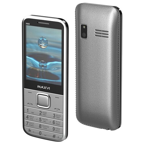 Телефон MAXVI X850 серебристый телефон