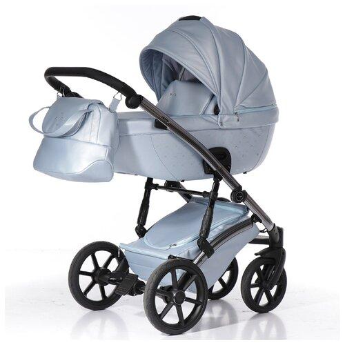 Купить Универсальная коляска Pituso Cristal (2 в 1) голубой/silver, цвет шасси: серебристый, Коляски