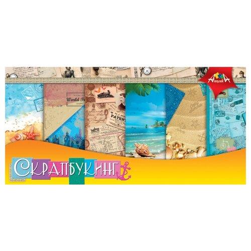 Купить Бумага Апплика 30x30 см, 12 листов, С2782-05 Отпуск разноцветный, Бумага и наборы