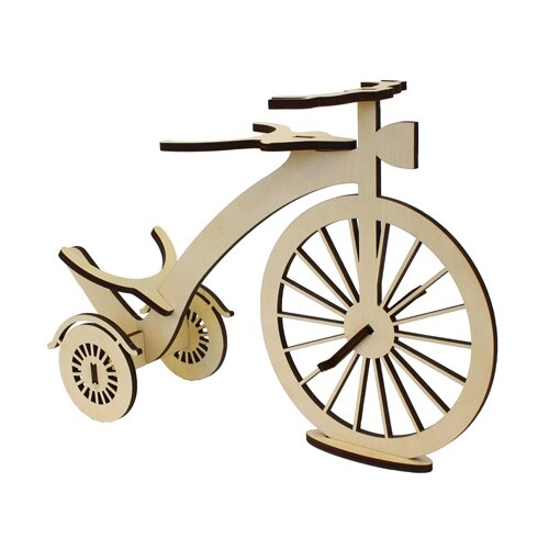 Купить Astra & Craft Деревянная заготовка для декорирования подставка под бутылку Старинный велосипед L-852 береза, Декоративные элементы и материалы