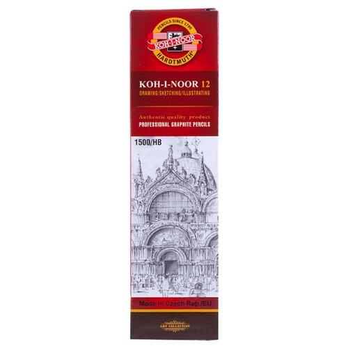 Купить KOH-I-NOOR Набор чернографитных карандашей 1500 12 шт (15000HB01170RU), Карандаши