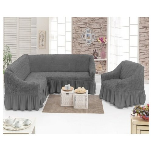 Набор чехлов KARBELTEX на угловой диван и кресло