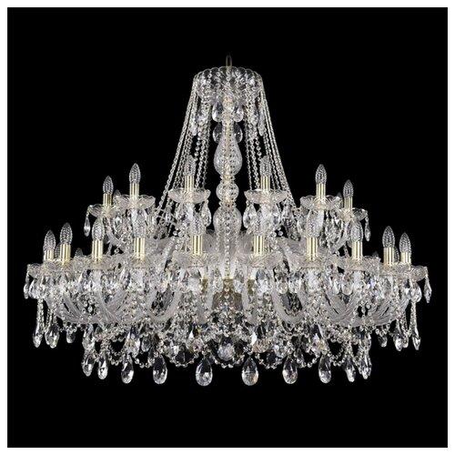 Люстра Bohemia Ivele Crystal 1411 1411/24+12/460/G, E14, 1440 Вт bohemia ivele crystal подвесная люстра 1411 12 380 72 g
