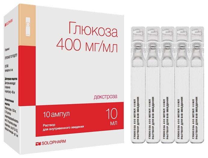 Гротекс Глюкоза р-р для в/в введ. 400 мг/мл амп.