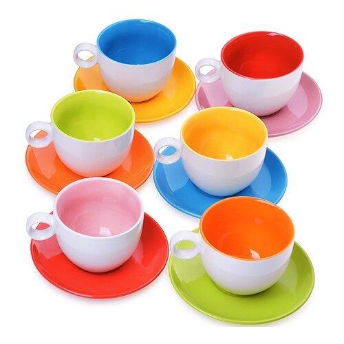 Чайный сервиз Loraine 27581 12 предметов разноцветный бульонница loraine бабочка 580 мл