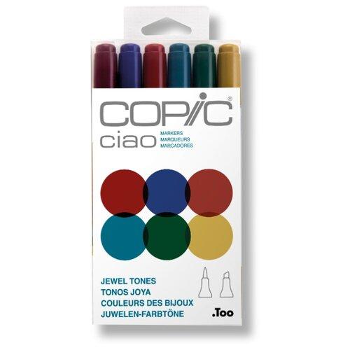 Купить COPIC набор маркеров Ciao Jewel Tones (H22075-670), 6 шт., Фломастеры