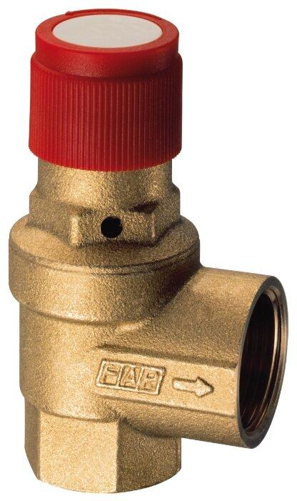 Предохранительный клапан FAR FA 2005 121260 муфтовый (ВР/ВР), латунь, 6 бар, Ду 15 (1/2