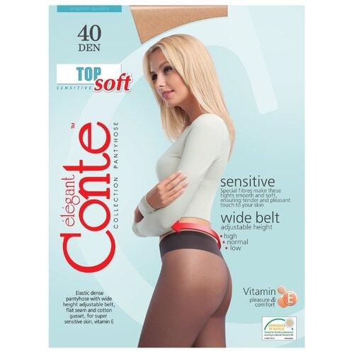 Фото - Колготки Conte Elegant Top Soft 40 den, размер 3, beige (бежевый) колготки conte elegant active soft 40 den размер 3 natural бежевый