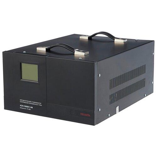Купить со скидкой Стабилизатор напряжения однофазный РЕСАНТА ACH-10000/1-ЭМ (10 кВт) черный