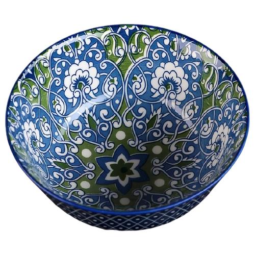 Фото - Доляна Салатник Джавлон 3324314 14.5 см синий/зеленый доляна салатник джавлон 12 см синий зеленый