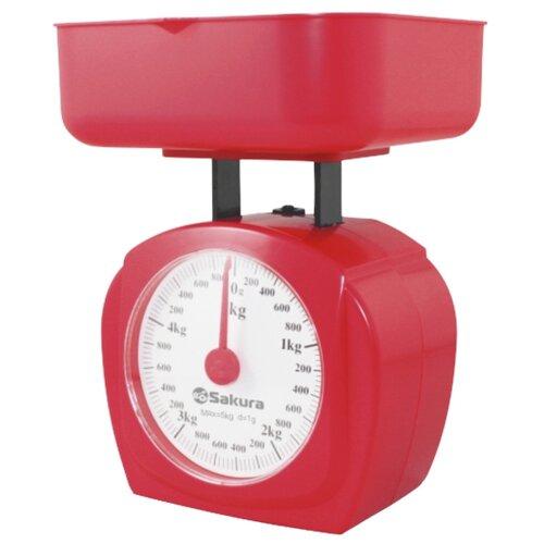 Кухонные весы Sakura SA-6017 красный