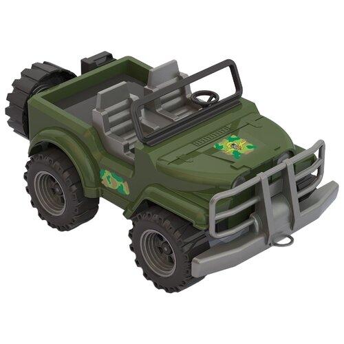 Купить Внедорожник Нордпласт Джип-сафари Коммандос (235) 32.5 см зеленый, Машинки и техника