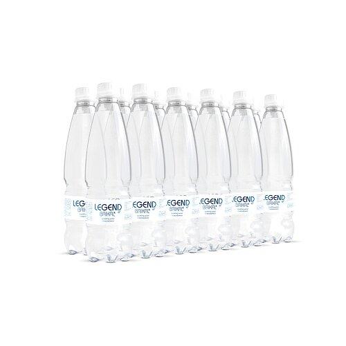 Вода питьевая Legend of Baikal глубинная газированная, пластик, 12 шт. по 0.5 л