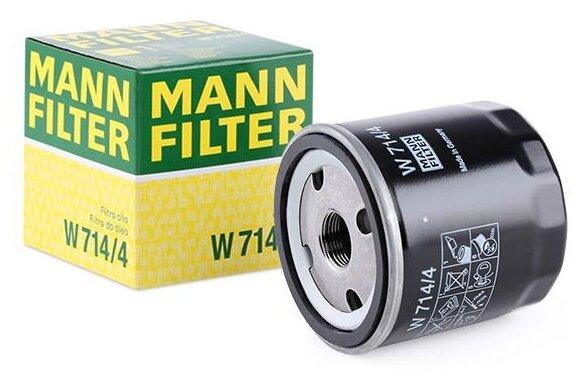 Масляный фильтр MANNFILTER W714/4