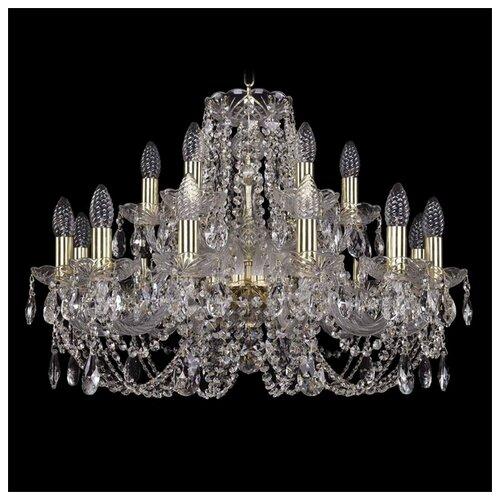 Люстра Bohemia Ivele Crystal 1406 1406/12+6/240/G, E14, 720 Вт bohemia ivele crystal 1406 24 12 12 6 530 230 4d g