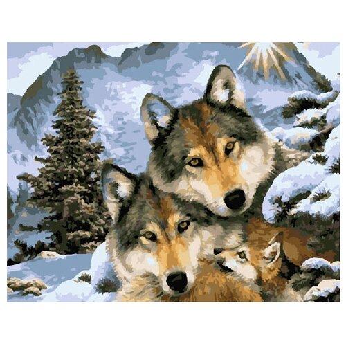 Купить ВанГогВоМне Картина по номерам Волчьи узы , 40х50 см (ZX 10003), Картины по номерам и контурам