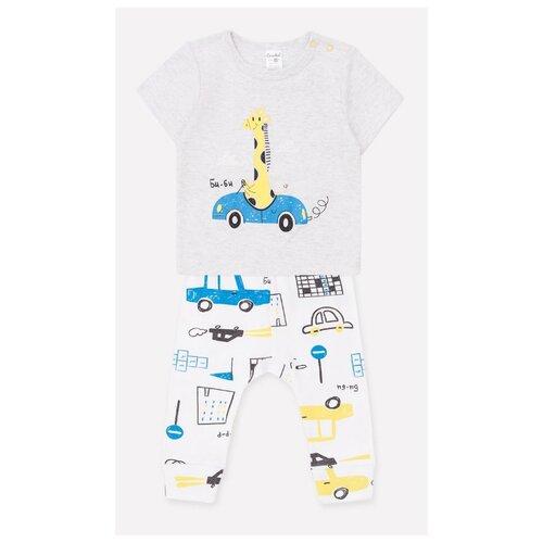 Купить Комплект одежды crockid размер 74, светло-серый/белый, Комплекты
