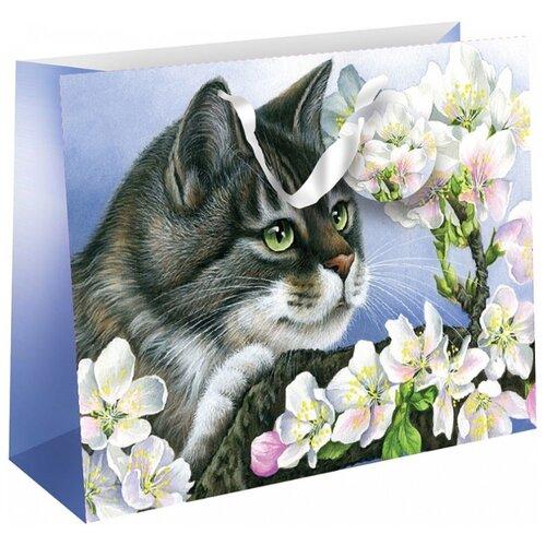 Пакет подарочный Perfect Craft Яблоневый цвет 23 х 18 х 10 см фиолетовый