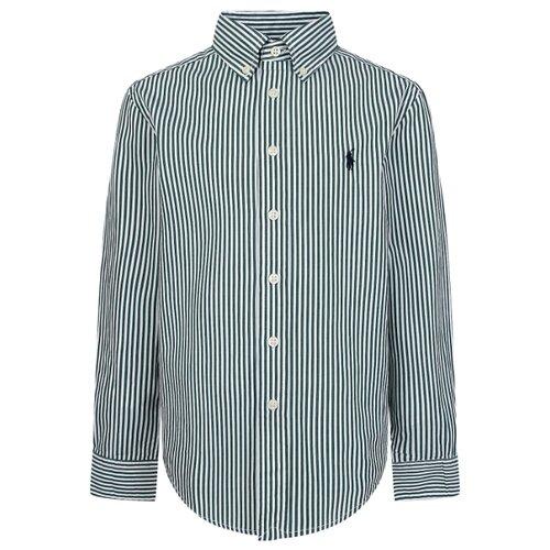 Рубашка Ralph Lauren размер 140, зеленый/белый