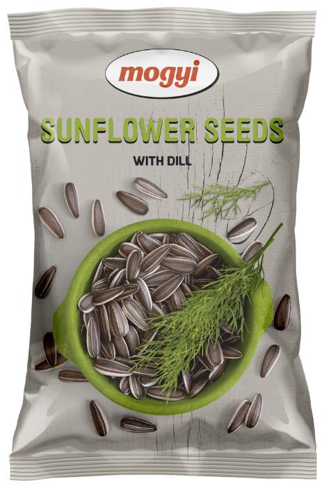 Семена подсолнечника Mogyi полосатые жареные соленые с укропом 140 г