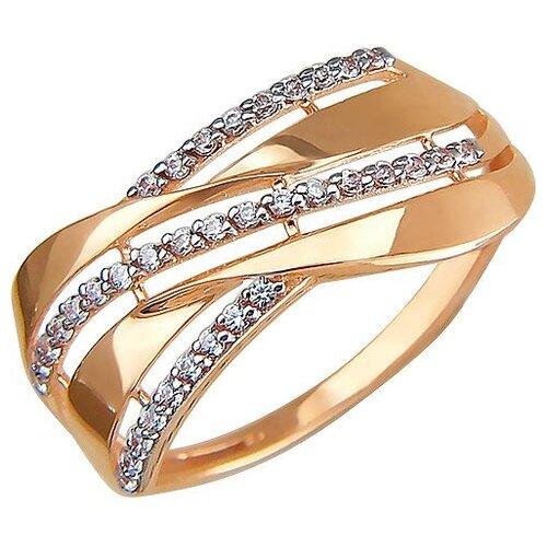 Эстет Кольцо с 36 фианитами из красного золота 01К1110842, размер 17