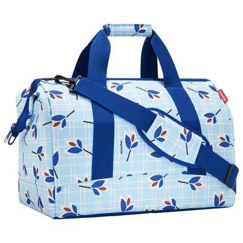Сумка дорожная reisenthel Allrounder L 30 л, leaves blue сумка reisenthel allrounder l fifties black mt7028