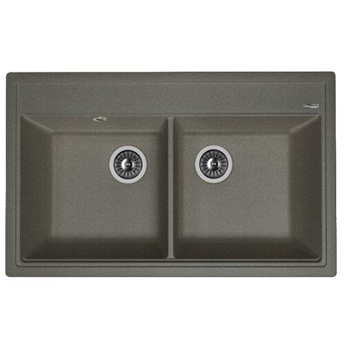 Врезная кухонная мойка 82 см FLORENTINA Липси-820 FG 20.370.E0820.102 черный