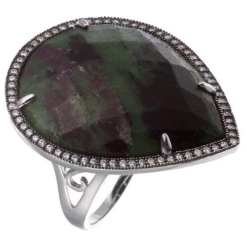 ELEMENT47 Кольцо из серебра 925 пробы с циозитом и кубическим цирконием MR8932-11_KO_CO_001_WG, размер 18.25
