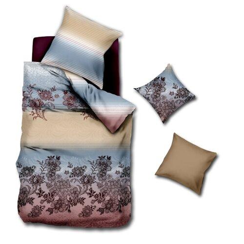Фото - Постельное белье 1.5-спальное La Noche del Amor 3035, сатин, 70 х 70 см бежевый/голубой постельное белье 1 5 спальное la noche del amor 587 сатин 70 х 70 см