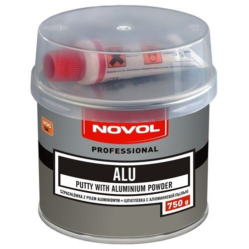 Комплект (шпатлевка, отвердитель) NOVOL ALU 0.75 кг