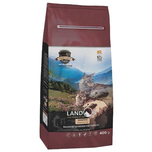 Корм для кошек Landor с ягненком, с рисом 400 г корм для кошек landor тунец