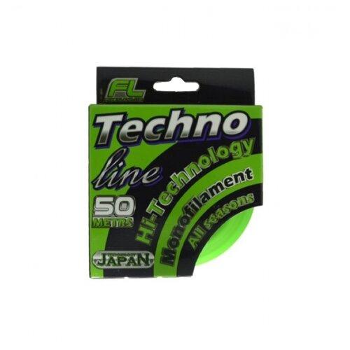 Монофильная леска FISHINGLIDER Techno Line бесцветный 0.09 мм 50 м 1.8 кг