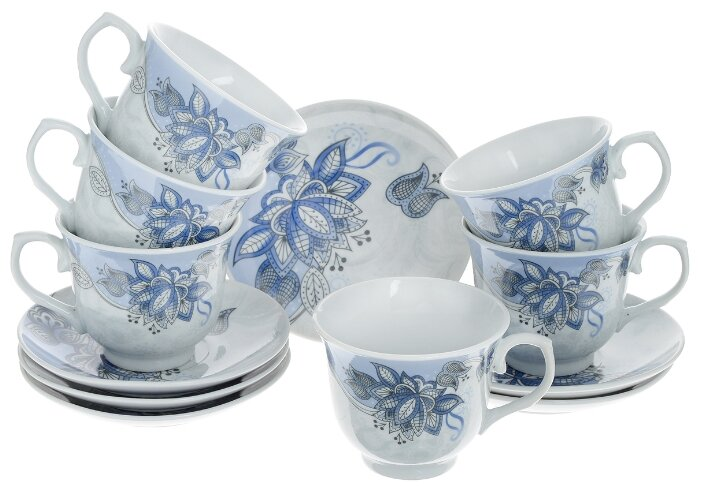 Чайный сервиз Loraine Цветы 25786 12 предметов 220 мл