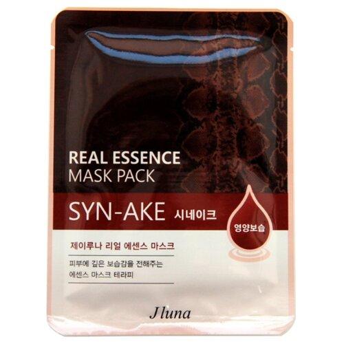 Фото - Juno тканевая маска Real Essence Mask Pack со змеиным ядом, 25 мл маска тканевая juno j luna q10 для лица 3 шт 25 мл
