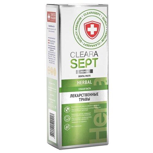 Зубная паста ClearaSept Herbal Лекарственные травы, 75 мл