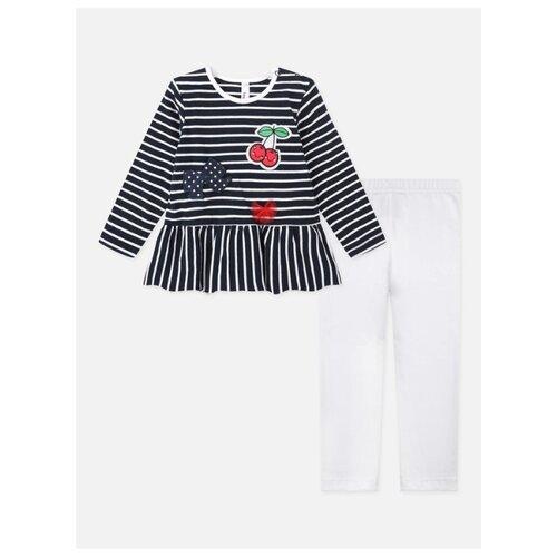 Комплект одежды playToday размер 74, красный/белый/темно-синий комплект одежды playtoday размер 74 темно синий серый