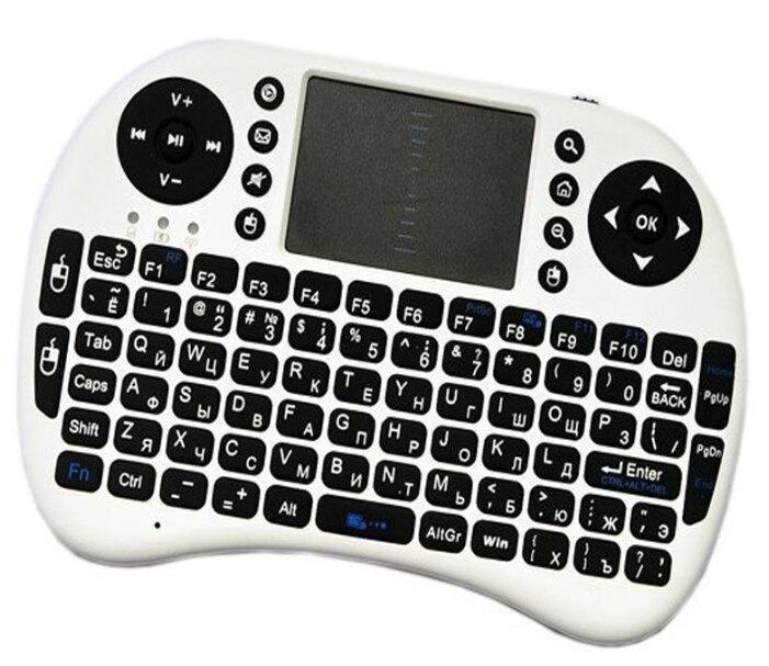 Купить Беспроводная мини-клавиатура с тачпадом Rii Mini i8 (белая) по низкой цене с доставкой из Яндекс.Маркета (бывший Беру)