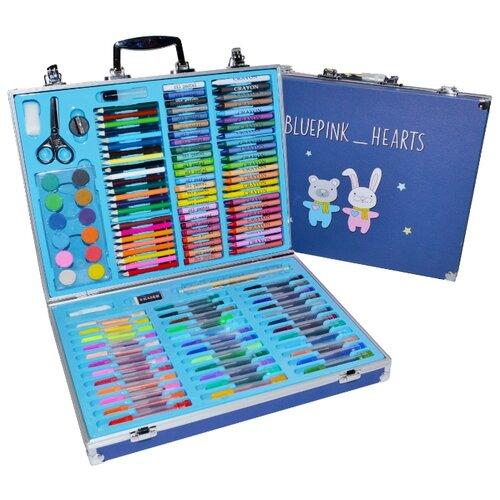 Купить Blue Pink Hearts Набор для рисования Юный художник большой, синий (098767), Наборы для рисования