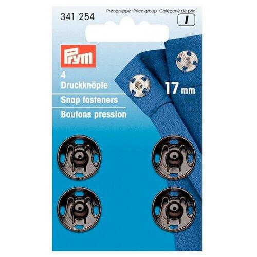 Купить Prym Кнопки пришивные 341254, черный, 17 мм, 4 шт.