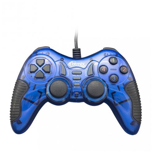 Геймпад Ritmix GP-007 синий геймпад проводной ritmix gp 035bth черный [80000202]